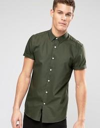 Оксфордская рубашка цвета хаки классического кроя ASOS - Хаки