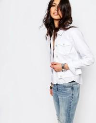 Джинсовая куртка Noisy May Debra - Белый