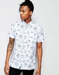 Рубашка с короткими рукавами и узором в стиле 90-х Wasted Youth