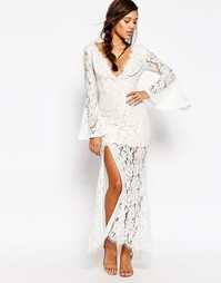 Платье макси с глубоким вырезом Love Triangle - Белый
