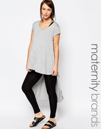 Трикотажная футболка для беременных с ассиметричной кромкой Bluebelle