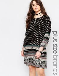 Цельнокройное платье с принтом пейсли Boohoo Plus - Черный