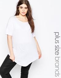 Асимметричная футболка Boohoo Plus - Белый