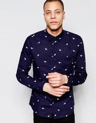 Рубашка с принтом птицы Only & Sons - Белый
