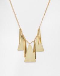 Броское ожерелье с треугольной подвеской Made - Золотой