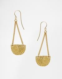 Полукруглые серьги-подвески Made - Золотой
