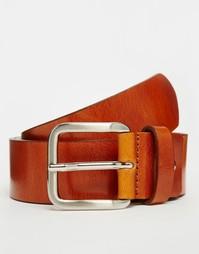 Светло-коричневый кожаный ремень Royal RepubliQ Limit - Рыжий