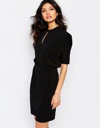 Платье с высоким воротом Y.A.S Ritter - Черный