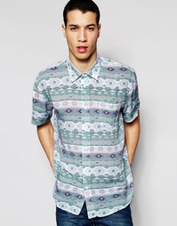 Рубашка с короткими рукавами Afends Sth Wst - Синий