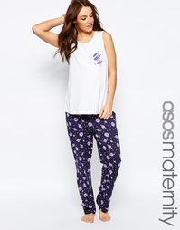 Пижамный комплект из майки и брюк ASOS Maternity - Мульти