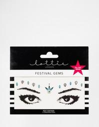 Стразы для бровей ограниченной серии Lottie - Glastonbury glam