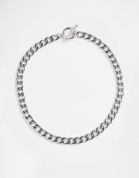 Ожерелье-чокер из цепочки с крупными звеньями ASOS - Серебряный