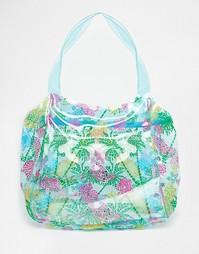 Пляжная сумка с принтом черепах Carpisa - Синий разноцветный