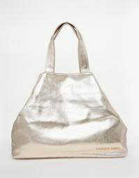 Парусиновая пляжная сумка с эффектом металлик Thursday Friday