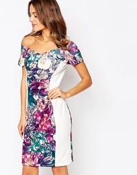Платье миди со вставками Amy Childs Flora - Мульти