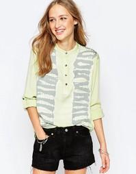 Блузка с рукавами 3/4 и воротником в азиатском стиле Gypsy 05