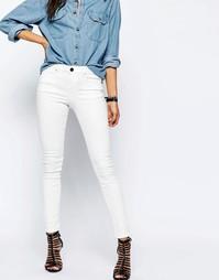 Бежевые джинсы с классической талией ASOS Lisbon - Valencia off white