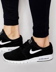 Кожаные кроссовки Nike SB Stefan Janoski Max 685299-002 - Черный