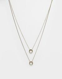 Золотистое ожерелье с круглыми подвесками ASOS - Brushed gold