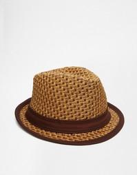 Соломенная шляпа-федора Goorin Eric B - Коричневый