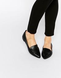 Черные кожаные балетки ALDO Bazovica - Черный