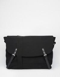 Черная парусиновая сумка-сэтчел ASOS - Черный