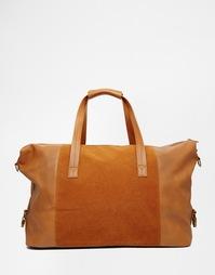 Светло-коричневая сумка со вставками ASOS - Рыжий