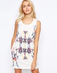 Цельнокройное платье с карманами и фактурным принтом See U Soon