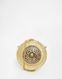 Винтажная сумка с гравированной отделкой Park Lane - Золотой