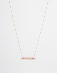 Ожерелье с пластиной Weekday - Розовое золото