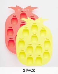 Набор из 2 лотков для льда в форме ананаса Sunnylife - Мульти
