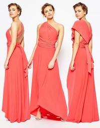 Длинное платье макси с V-образным вырезом Coast Corwin - Коралловый