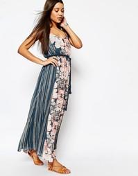 Шифоновое платье макси с веревочным поясом Abercrombie & Fitch