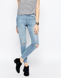 Супероблегающие джинсы с рваной отделкой Noisy May Lucy - Lbd 34