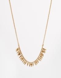 Длинное ожерелье Pieces Brite - Золотой