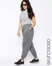 Трикотажные гаремные брюки ASOS CURVE - Угольный меланжевый