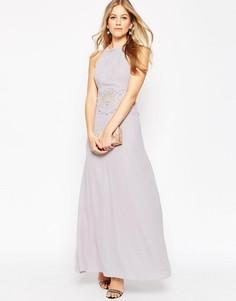 Вечернее платье макси с кружевной вставкой ASOS