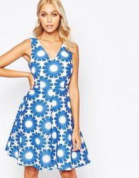 Платье с ажурной отделкой Traffic People Send Me No Flowers - Синий