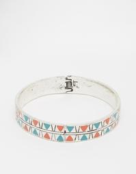 Серебряный браслет геометрического дизайна ASOS - Полированный родий