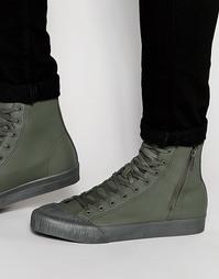 Высокие кеды цвета хаки ASOS - Зеленый
