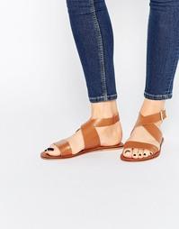 Кожаные сандалии ASOS FRAME - Рыжий
