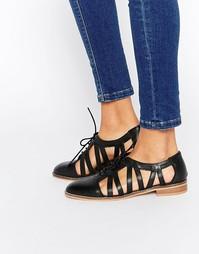 Кожаные туфли на плоской подошве ASOS MEMBERSHIP - Черный