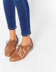 Кожаные туфли на плоской подошве ASOS MEMBERSHIP - Рыжий