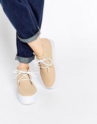 Ботинки-кроссовки на платформе ASOS DRAKE - Телесный