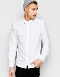 Белая оксфордская рубашка слим Waven Mimir - Белый
