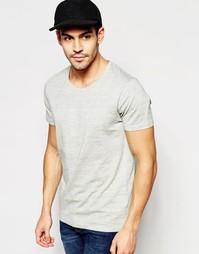 Меланжевая футболка с круглым вырезом Selected Homme - Серый