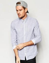 Хлопковая рубашка Selected Homme - Серый