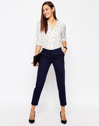 Фактурные брюки слим ASOS - Темно-синий