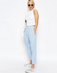 Зауженные брюки-галифе в стиле casual от ASOS - Синий