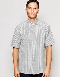 Рубашка в полоску из ткани сирсакер с короткими рукавами ADPT